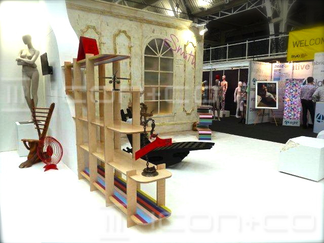 Exhibition promotional display, scenic art artwork artists, stand designers manufacturers, display artists, trade show, creative marketing pr props, artistic paint effects, bespoke furniture