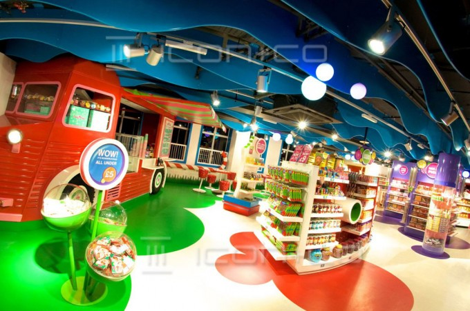 retail display displays store re-fit contractors, display manufacturers, Playrooms, kids interiors, themed children's bedrooms, sweet shop, high-spec paint finishing