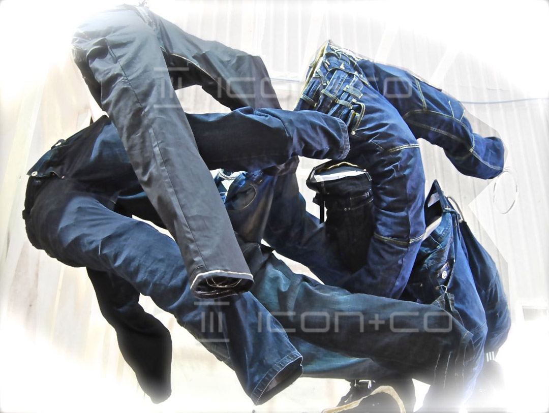 Innovative Retail Display, props prop-makers, flying jeans, denim display,