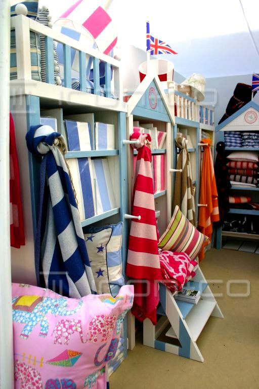 Exhibition stand display manufacturers, beach house, trade show, spring summer props, shop interiors, display furniture props