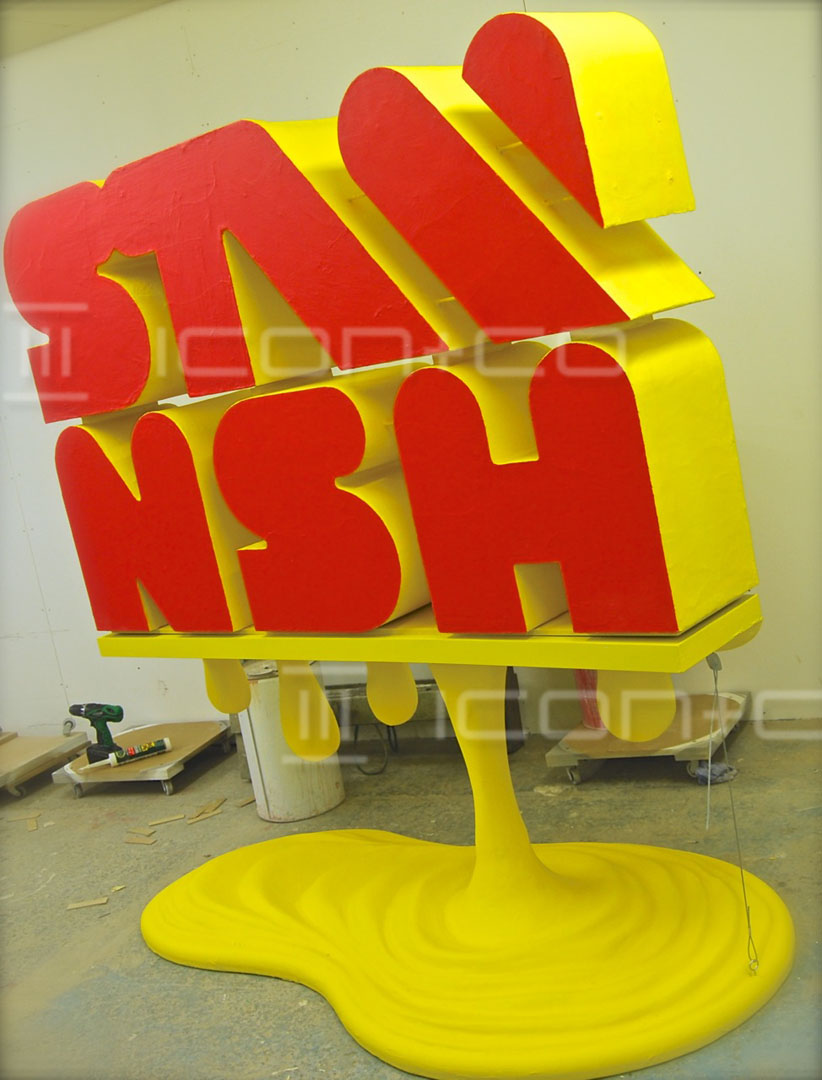 polystyrene lettering props, giant props, s4c, tv, stwnsh, poly sculpting, tv props