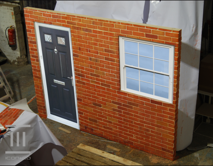 Fake Brick Wall Prop, brickwork, paint effects, fake bricks, mural, painter scenic artist