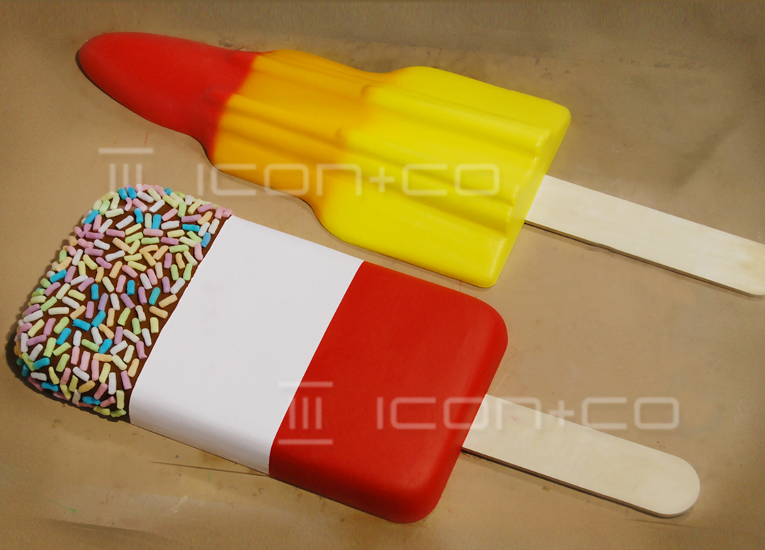 Giant Ice Lolly Props, Giant Props, faux, ice cream