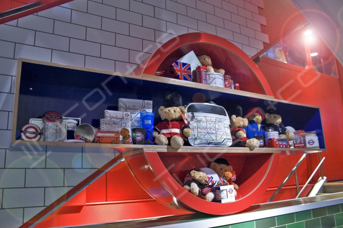 tube train retail display shelving props, children's furniture