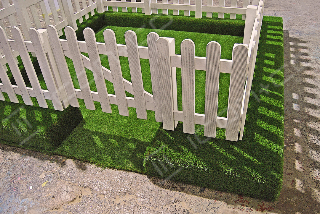 Picket Fence Display Props, carpentry joinery, fake picket fence, white gate prop, life size props, giant props