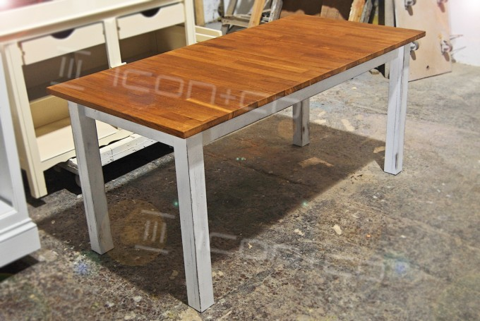 retro urban vintage, product display table, retail display props, recycled reclaimed timber