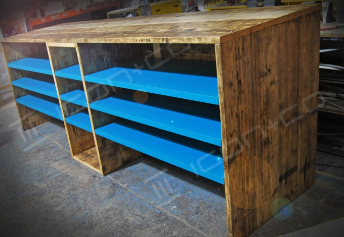 retro urban vintage, retail display, rustic, recycled timber, upcycled, re-cycled, up-cycled