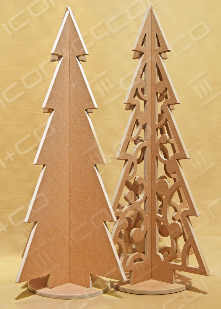 MDF Display Christmas Trees, Xmas trees retail display props shop, wooden timber, Christmas & Seasonal Display, fret cut cnc flat-pack self assembly