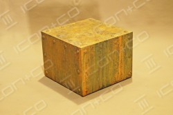 MDF display plinths, mannequin base box, storage, texture, urban vintage, distressed effect. faux rust, fake, paint effects