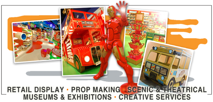 retail display prop making scenic theatrical museums exhibitions creative services