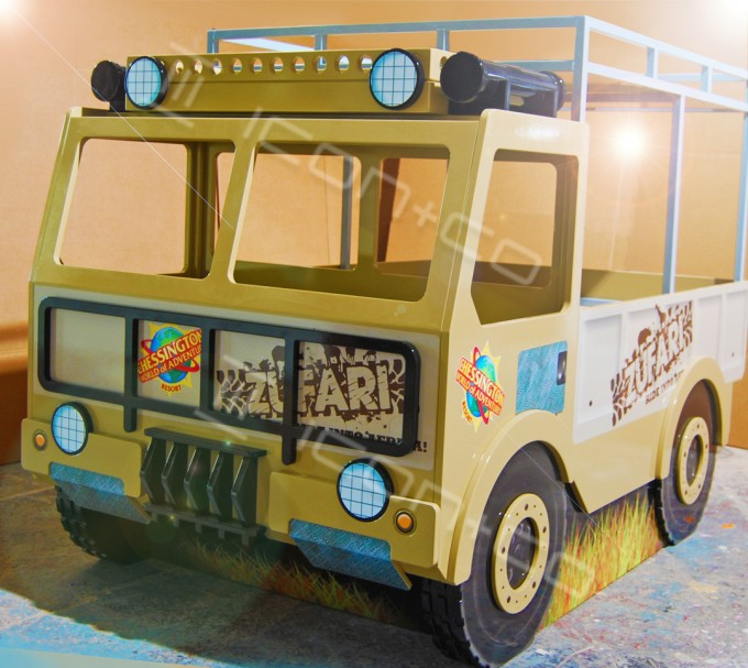 retail display props, safari, children's bedrooms, kids nurseries, playrooms, themed interiors, plinth retail display props, truck, cnc cutting, printing