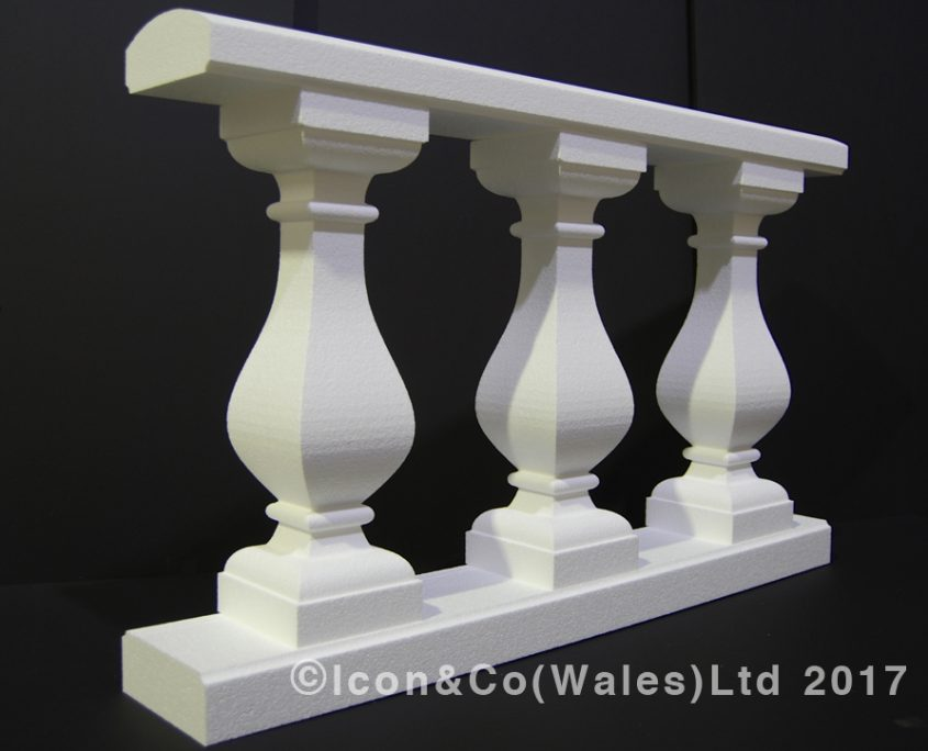 Wedding reception party fake concrete Bath stone display props marble balustrade polystyrene prop