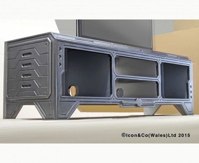 Gaming furniture, Playstation, x-box, games console tv stand, dr who, future retro, cnc, limited ltd edition, etsy shop,