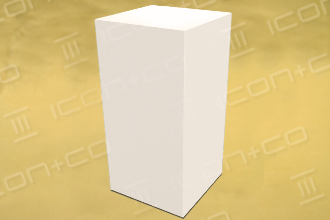 mannequin base box, 1m, 1000mm high, white MDF, gallery, exhibition, storage, museum quality, mitre jointed, shop display