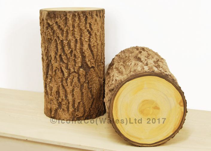 trees, propmakers, fake tree stump, theatrical supplies, theatre tree trunk prop, scenic painting, scenically painted tree prop, tree stool, log, pretend log, props