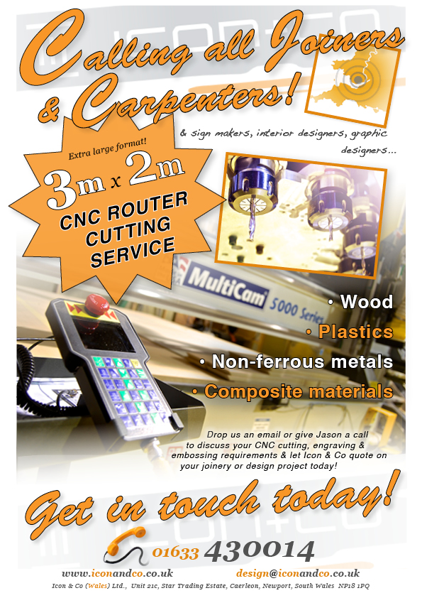 cnc cutting service woodworking woodwork router routing joinery joiner carpentry carpenter multicam 5000 series South Wales Newport Cardiff Bristol Swansea Caerleon South West England Chepstow