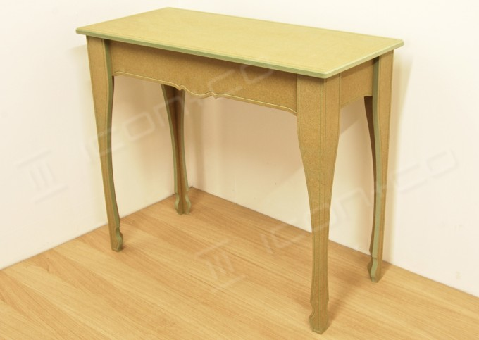 console decorative feature table living room hallway display tables RAW paint-it-yourself art project