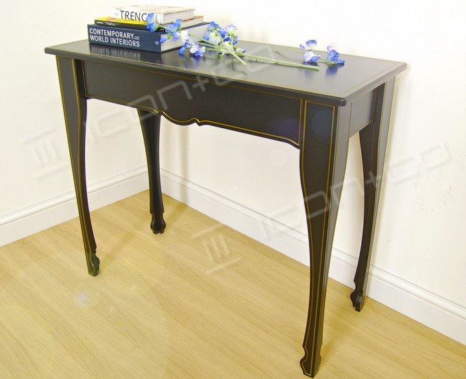 console table decorative feature table living room hallway display tables black contemporary stylised modern furniture classic traditional formal product display table