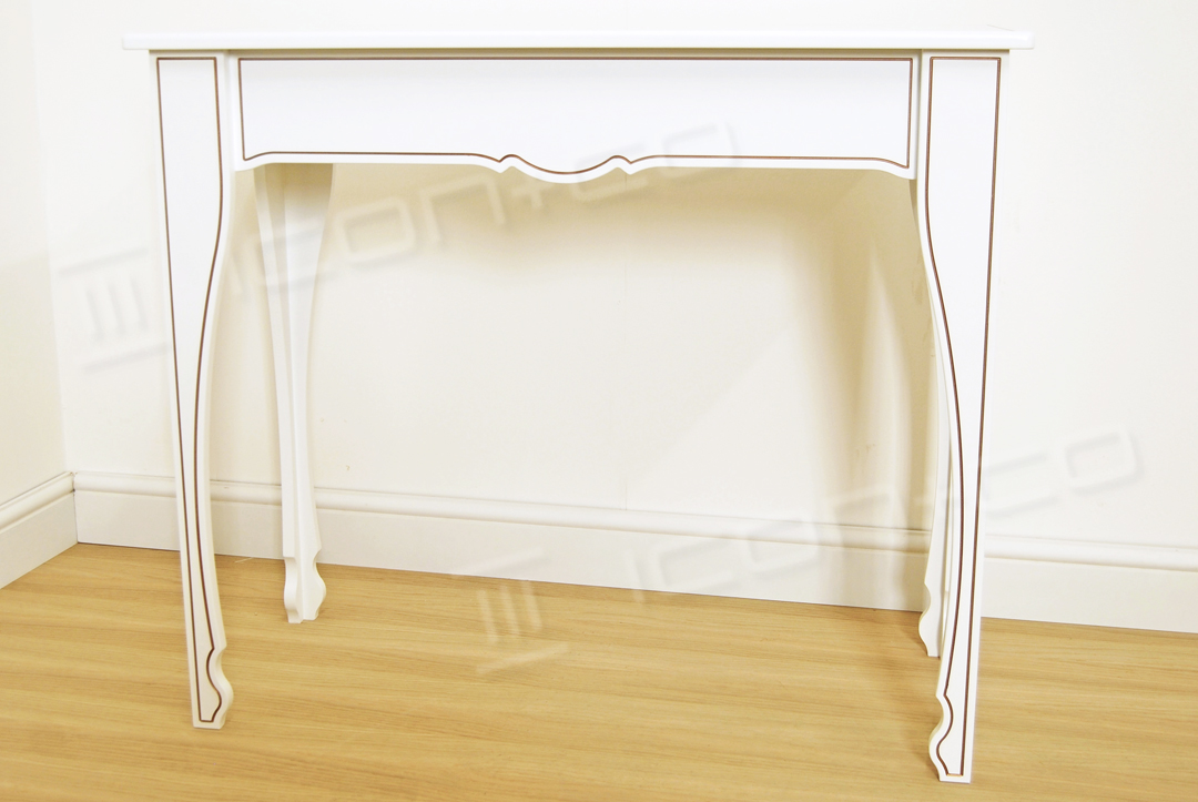 console decorative feature table living room hallway retail product display tables