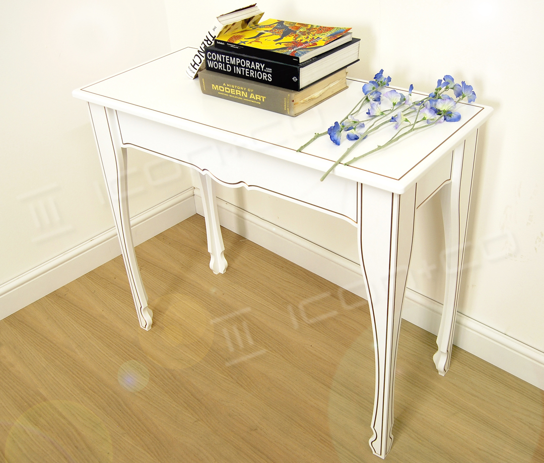 console decorative feature table living room hallway display tables white