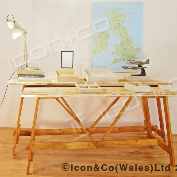 Urban vintage folding wedding table folding trestle display table furniture, traditional reclaimed timber recycled wood urban vintage, fold away, trestle table work bench desk retail display prop, wedding function garden party event furniture, collapsible