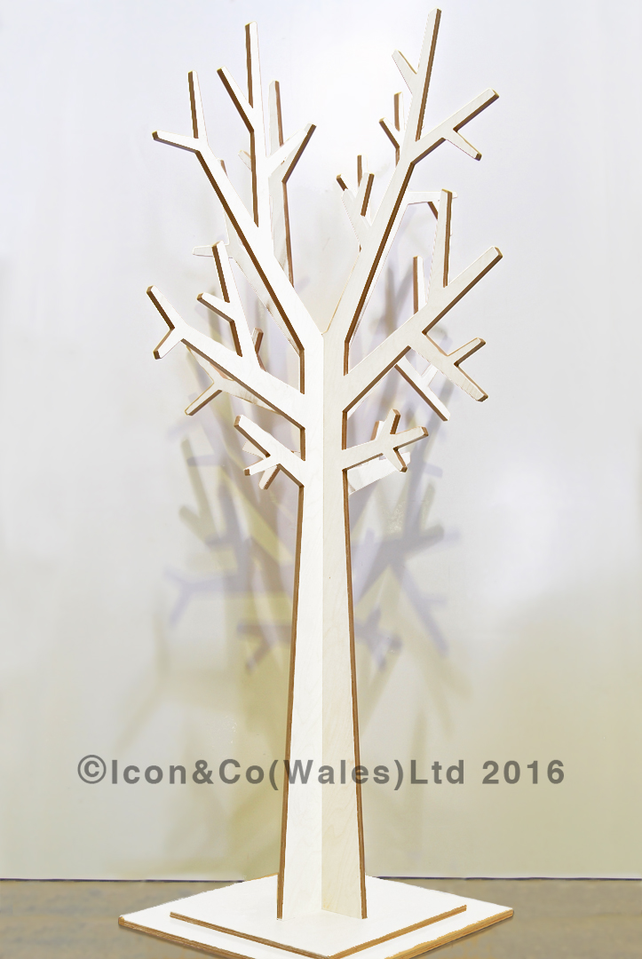 MDF display trees plywood ply plyboard, Autumn winter xmas christmas tree, white painted laminated