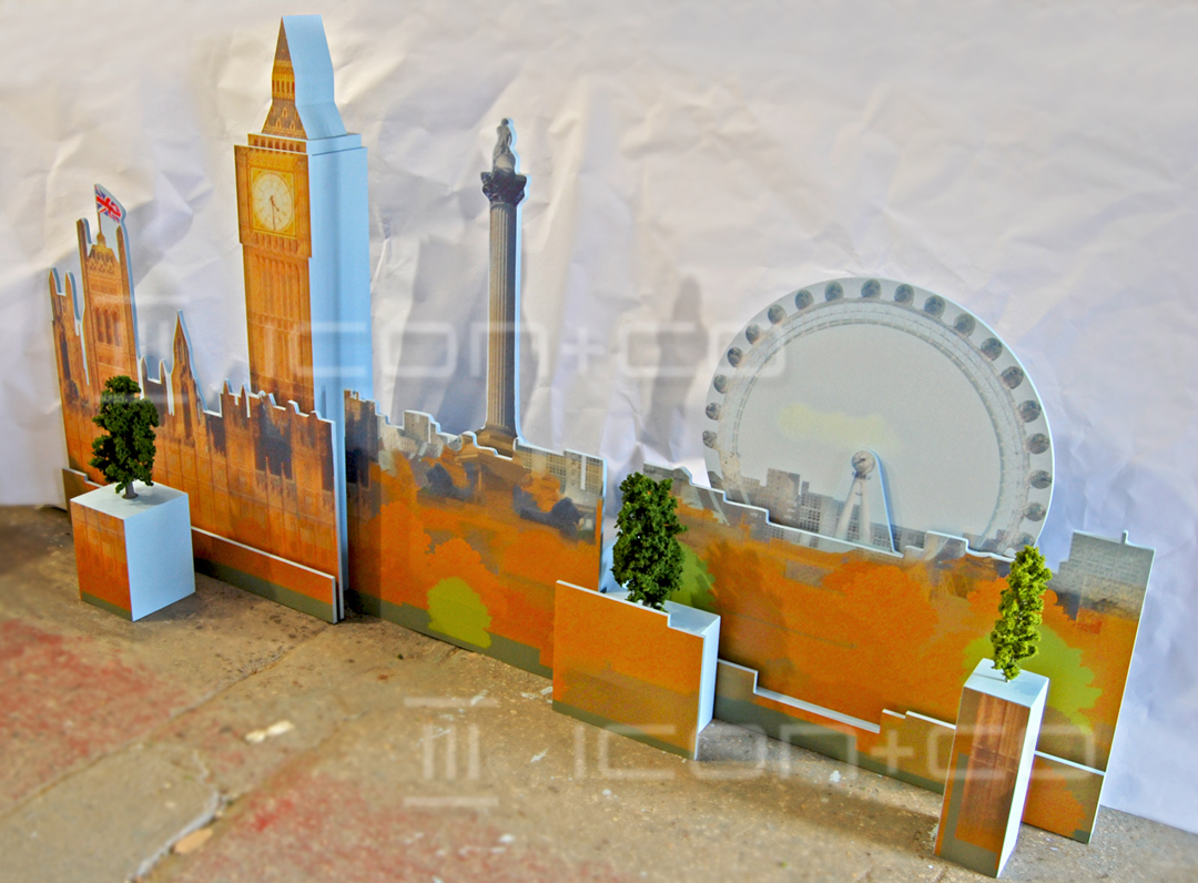 animated displays, window displays, london eye, big ben, scale model, prop makers, motorised display