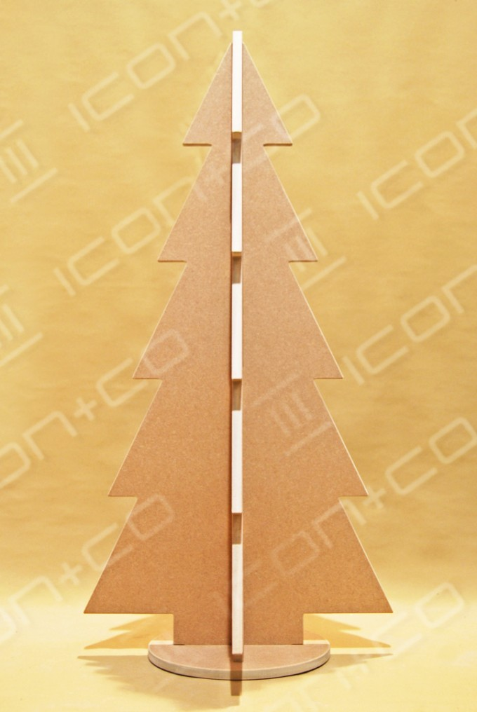 Flat-pack tree, Xmas, display, fret cut cnc, noel, wood wooden timber stylised, 2D
