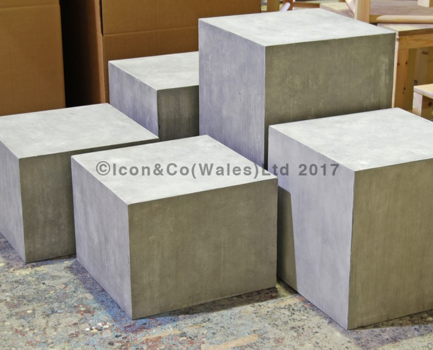 fake concrete prop stone concrete effect display plinth