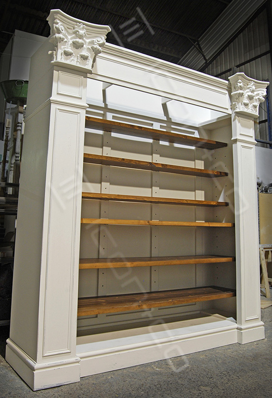vintage retail display manufacturers, shelves, armoires, mock antique, decorative feature, retail shop furniture, urban vintage