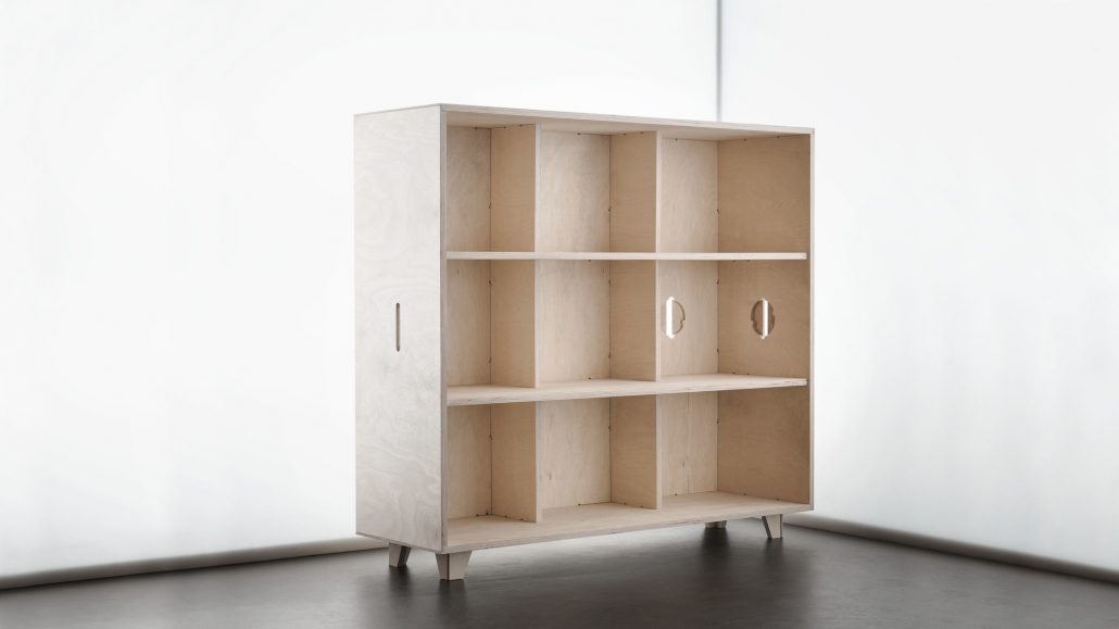 opendesk, cnc cutting routering services south wales, carpentry carpenters, bookshelf unit, Cardiff, Newport, Bristol, ply furniture, contemporary office design furniture manufacturer